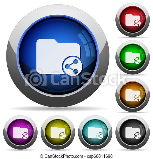 Share directory round glossy buttons - csp66811698