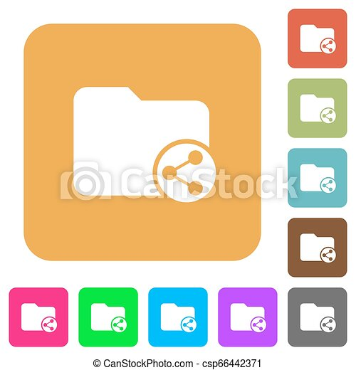 Share directory rounded square flat icons - csp66442371