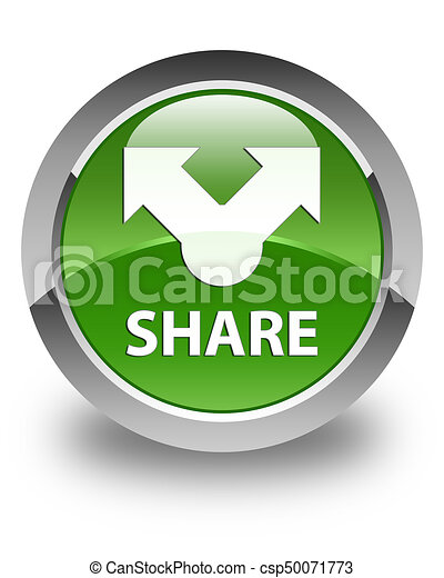 Share glossy soft green round button - csp50071773