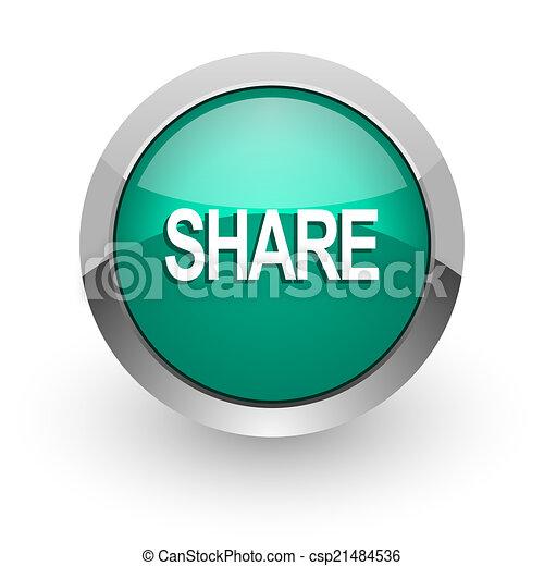 share green glossy web icon - csp21484536