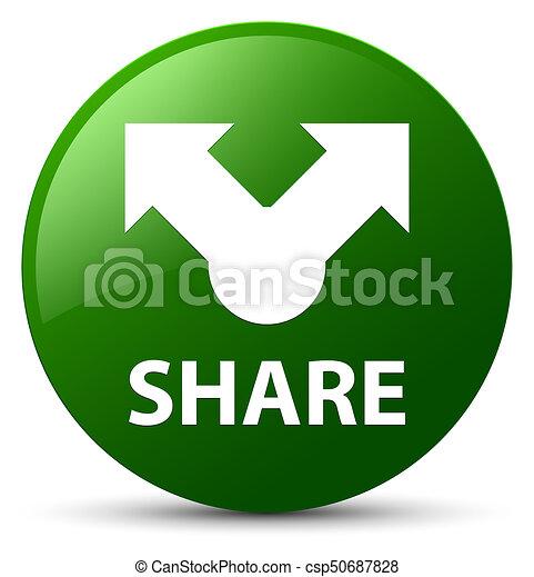 Share green round button - csp50687828