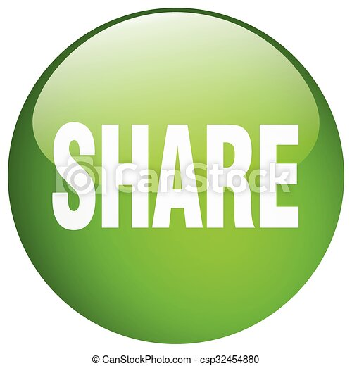 share green round gel isolated push button - csp32454880