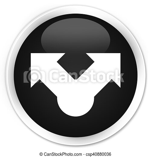 Share icon black glossy round button - csp40880036