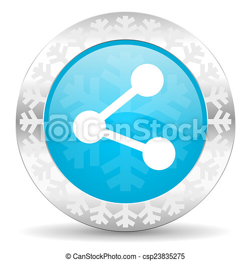share icon, christmas button - csp23835275