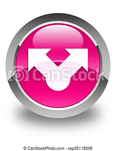 Share icon glossy pink round button - csp35118208