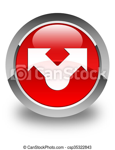 Share icon glossy red round button - csp35322843