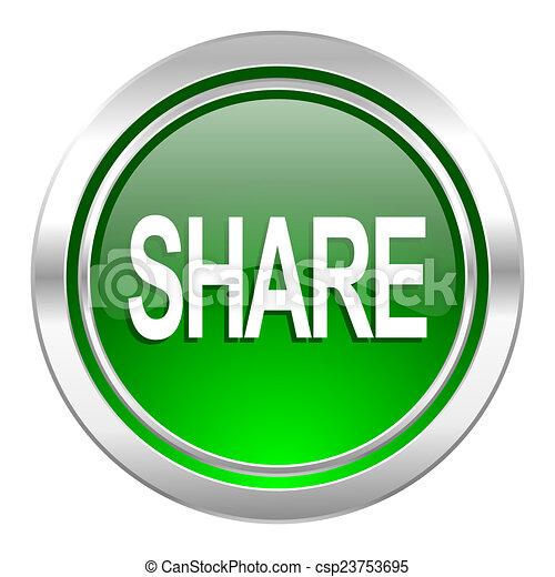 share icon, green button - csp23753695
