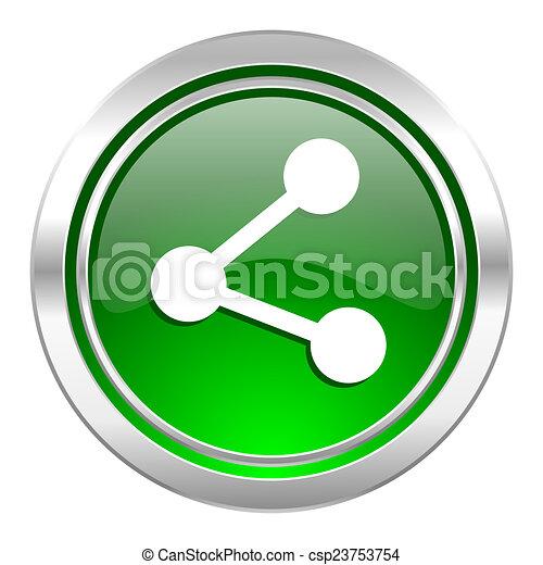 share icon, green button - csp23753754