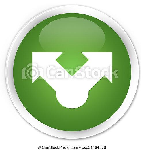 Share icon premium soft green round button - csp51464578