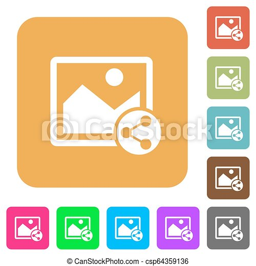 Share image rounded square flat icons - csp64359136