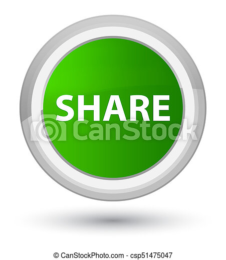 Share prime green round button - csp51475047