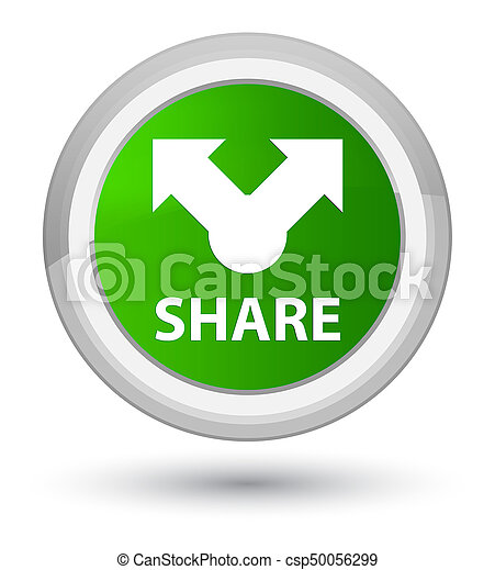 Share prime green round button - csp50056299