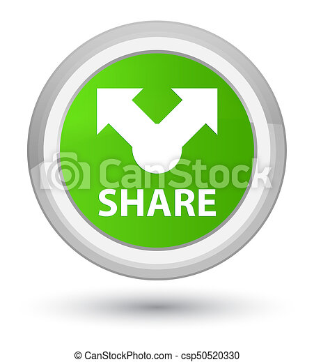 Share prime soft green round button - csp50520330