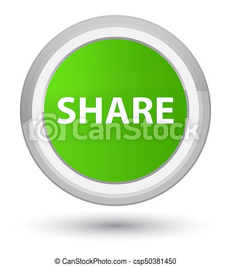 Share prime soft green round button - csp50381450