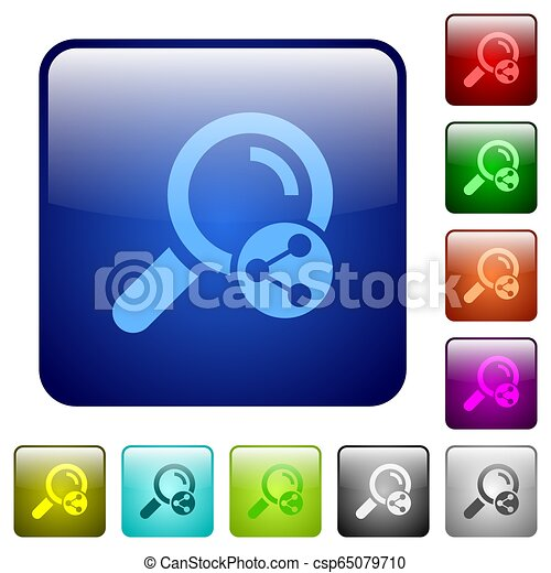 Share search color square buttons - csp65079710
