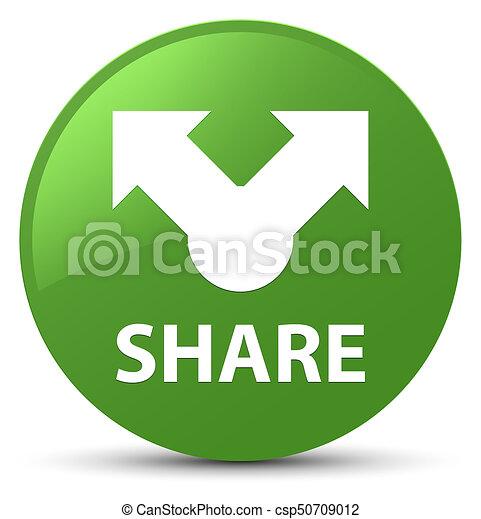 Share soft green round button - csp50709012