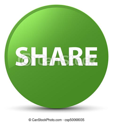 Share soft green round button - csp50068035