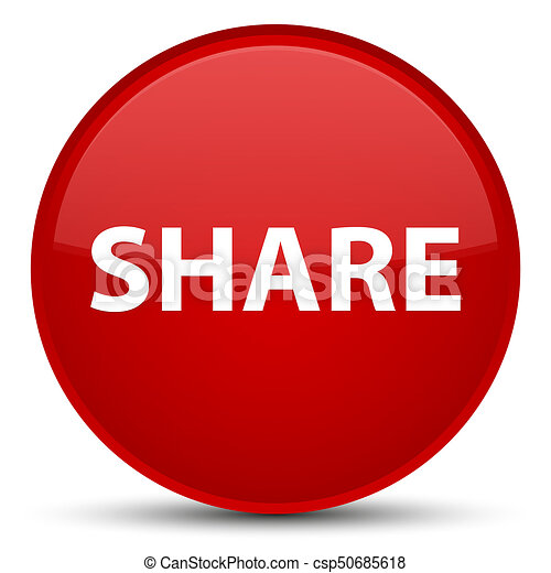 Share special red round button - csp50685618