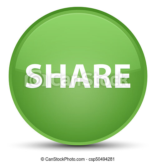 Share special soft green round button - csp50494281