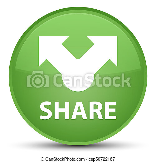 Share special soft green round button - csp50722187