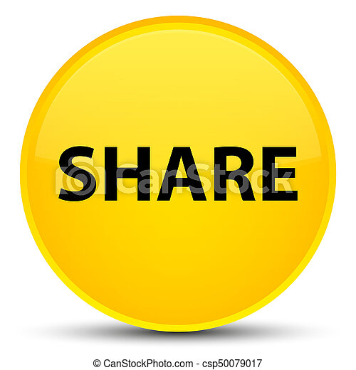 Share special yellow round button - csp50079017
