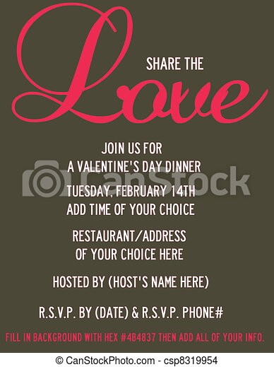 Share The Love Valentine S Invite Valentine S Day Dinner Party
