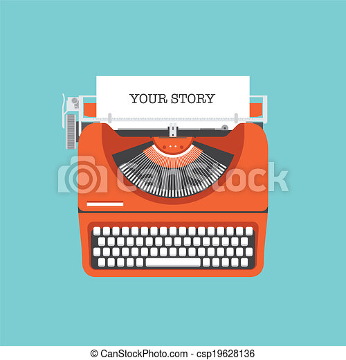 Share your story flat illustration - csp19628136