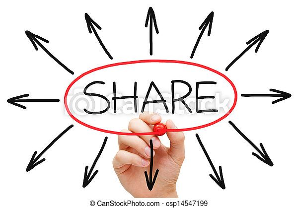Sharing Concept Red Marker - csp14547199