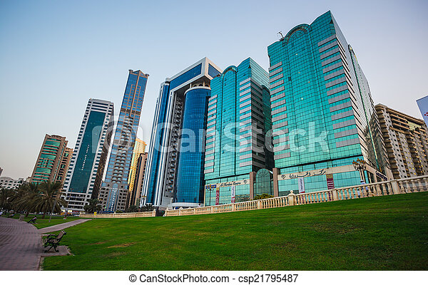 Sharjah - third largest and most populous city in UAE - csp21795487