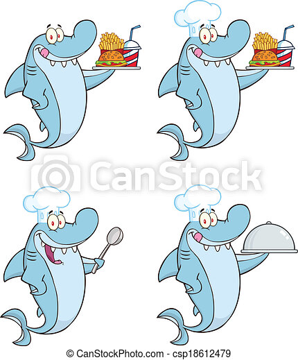 Shark Character 2 Set Collection - csp18612479