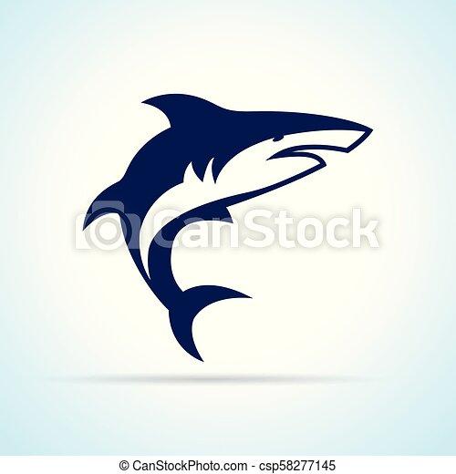 shark design on white background - csp58277145