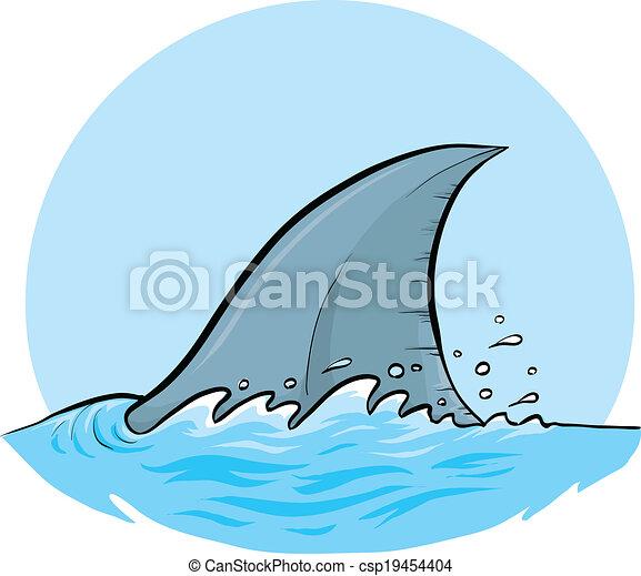 shark dorsal fin a cartoon dorsal fin of a shark rh canstockphoto com Shark Fin Clip Art Black and White Shark Fin Clip Art Black and White