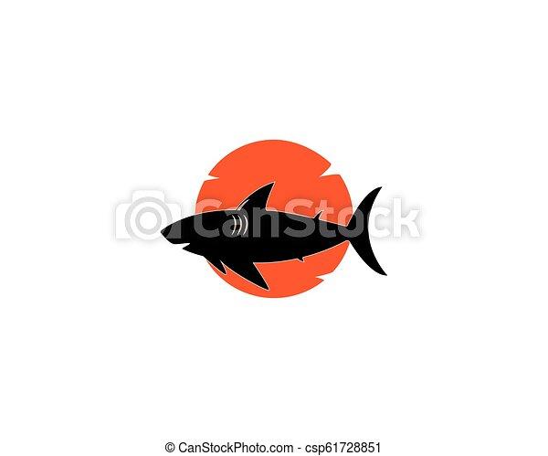 shark logo template vector icon design
