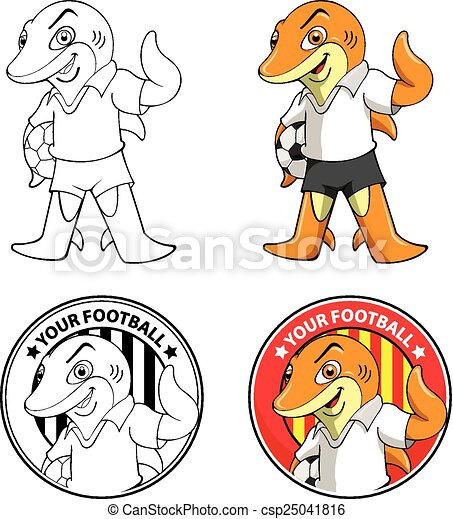 shark mascot football team logo vector illustrator vector clip art rh canstockphoto com football team clip art pictures football team clipart free