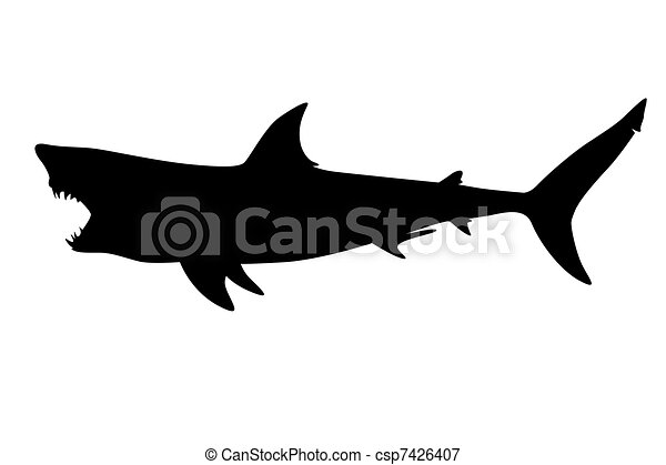 495f8a9e6d3a0 Predatory shark with an open mouth in the form of a tattoo.