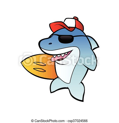 shark surfer cartoon shark clip art vector search drawings and rh canstockphoto com