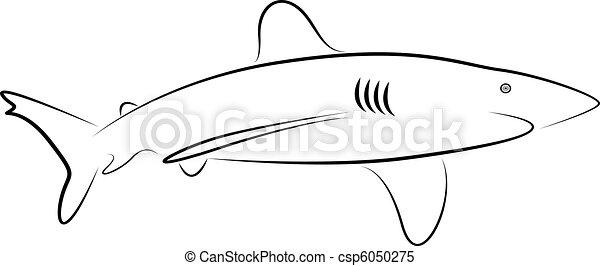 shark tattoo - csp6050275