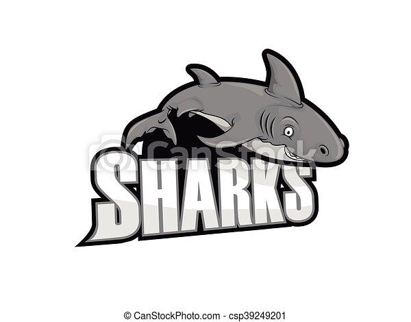 sharks illustration design - csp39249201
