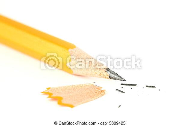 Sharpened pencil closeup - csp15809425
