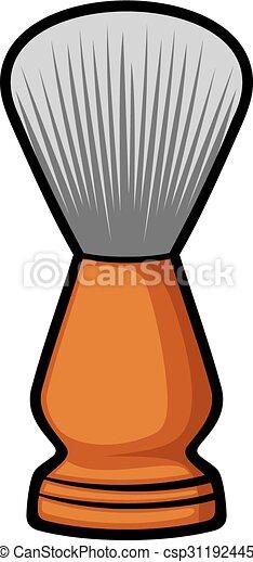 shaving brush (barber brush) - csp31192445