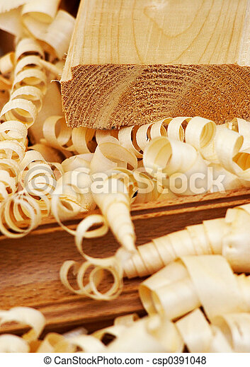 Shavings-woody texture - csp0391048