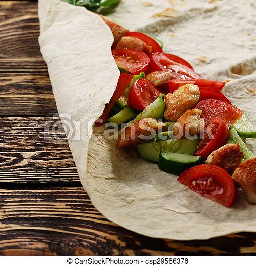 shawarma - csp29586378