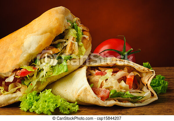 shawarma, turco, kebab, doner - csp15844207