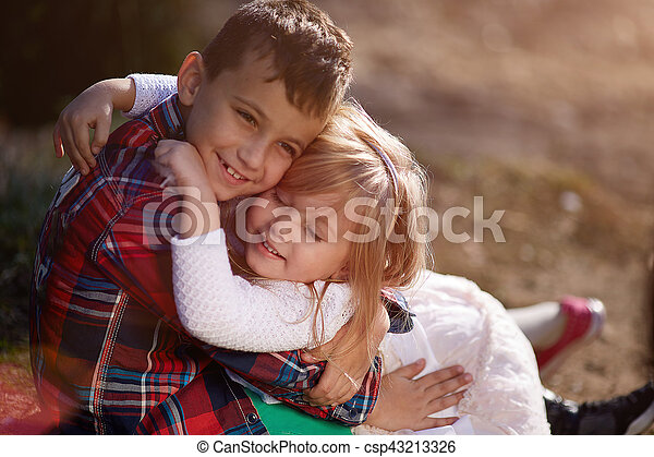 She loves her big brother - csp43213326