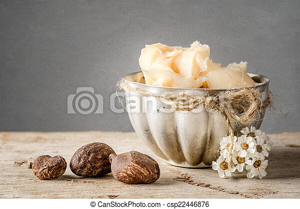 Shea Butter and nuts - csp22446876