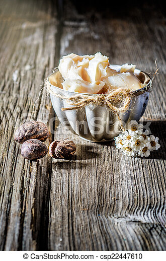 Shea butter and nuts - csp22447610