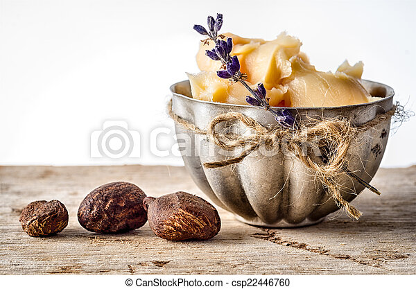 Shea Butter and nuts - csp22446760