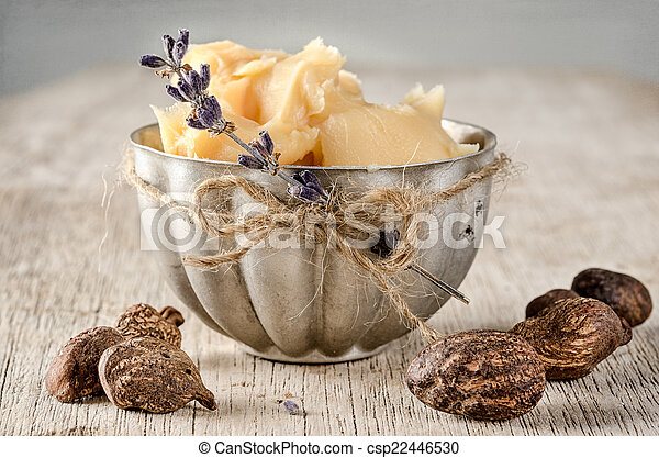 Shea Butter and nuts - csp22446530