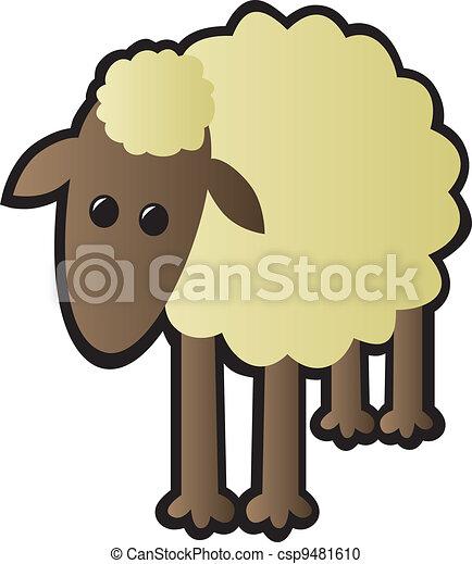 sheep, 単一 - csp9481610