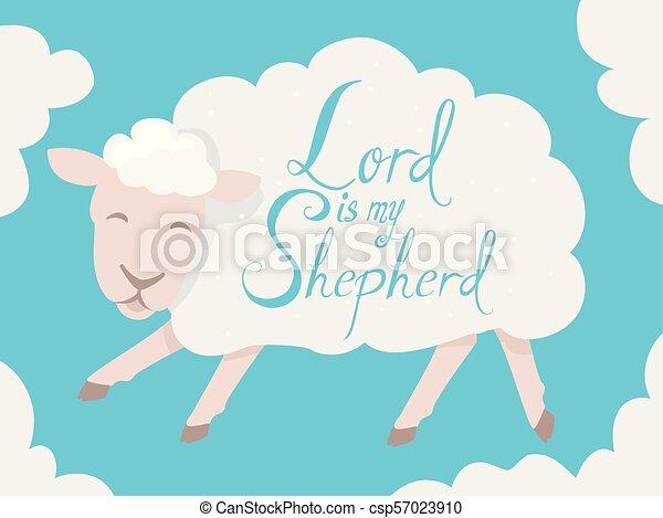 Sheep 羊飼い 私 イラスト 主 Sheep 羊飼い レタリング イラスト 主